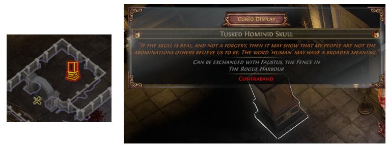 Tusked Hominid Skull Location