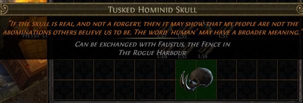 Tusked Hominid Skull