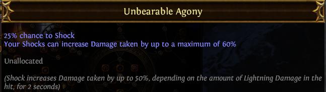 Unbearable Agony PoE