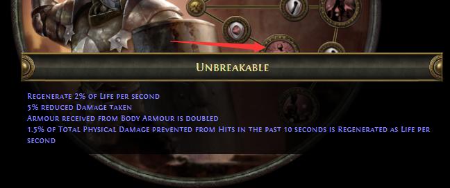 Unbreakable Juggernaut PoE