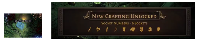 unlock Six Sockets crafting recipe