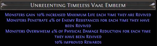 Unrelenting Timeless Vaal Emblem PoE