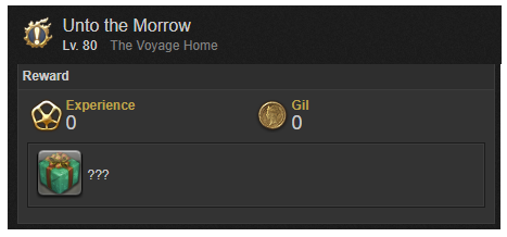 Unto the Morrow