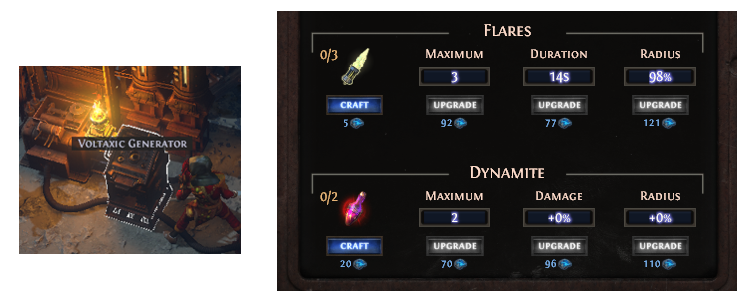 Upgrade Flare and Dynamite