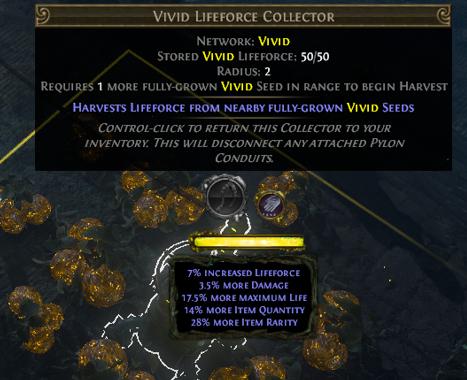 Use Vivid Lifeforce Collector