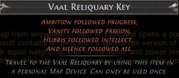 Vaal Reliquary Key