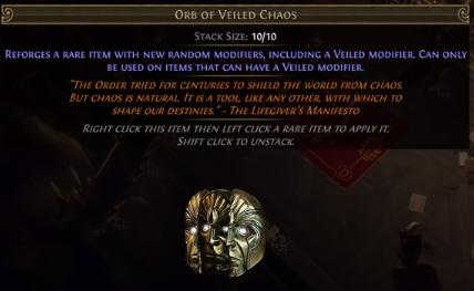 Veiled Chaos Orb PoE