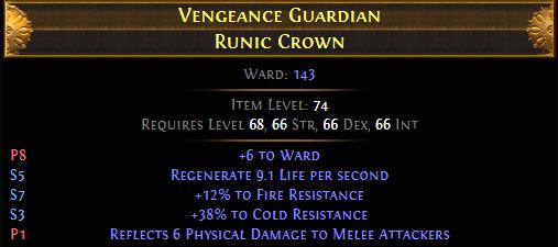 Vengeance Guardian Runic Crown