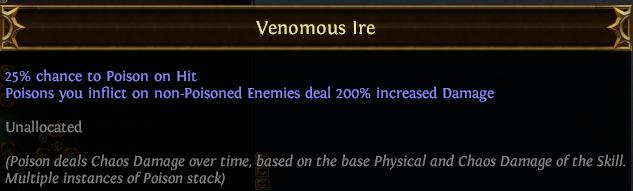 Venomous Ire PoE