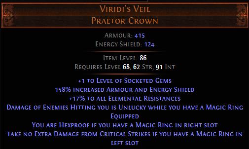 PoE Viridi's Veil