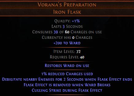 Vorana's Preparation PoE