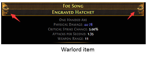 Warlord item