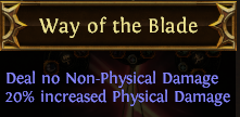 Way of the Blade PoE