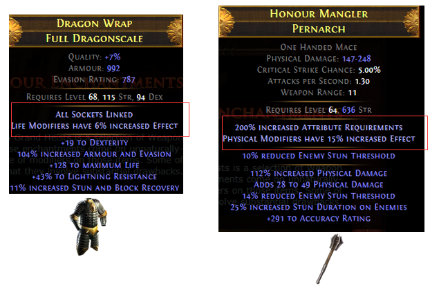 Weapon and Body Armour Enchantments