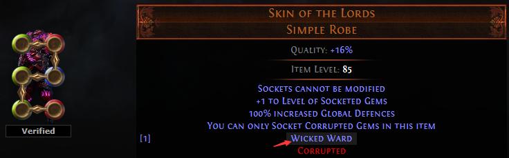 Wicked Ward Uniques