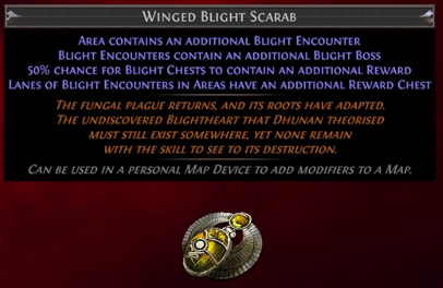 Winged Blight Scarab PoE