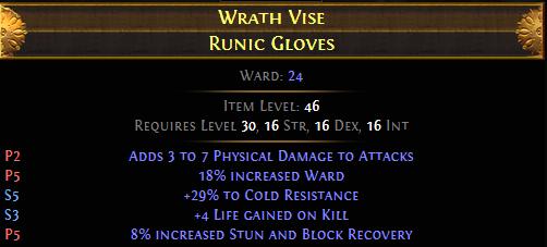 Wrath Vise Runic Gloves