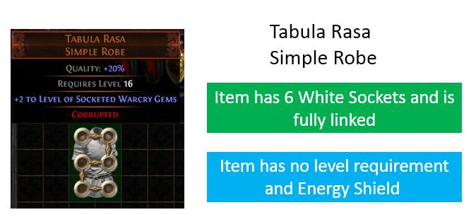 PoE Tabula Rasa Price, Farming, How to get & Build